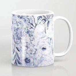 Watercolor grey floral hand paint Coffee Mug