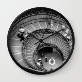 Down the spiral staircase Wall Clock