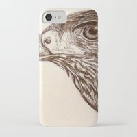hawk iPhone & iPod Cases featuring Hawk by Leslie Creveling