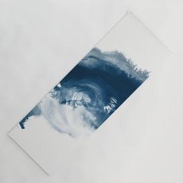 Building the Universe:  A minimal abstract acrylic painting in blue and white by Alyssa Hamilton Yoga Mat