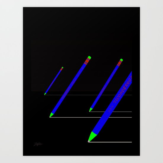 the pencil race 4000 Art Print
