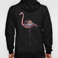 Flamingo and Pug Hoody