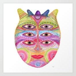 kindly expressed kind of kindness mask Art Print