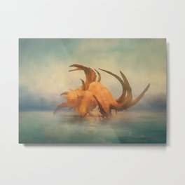 Staghorn on the Beach Metal Print