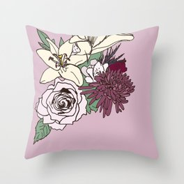 Flowers From The Universe Throw Pillow