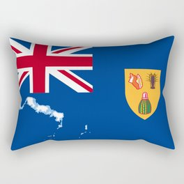 Turks and Caicos Islands TCI Flag with Island Maps Rectangular Pillow