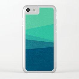 Stripe VIII Minty Fresh Clear iPhone Case