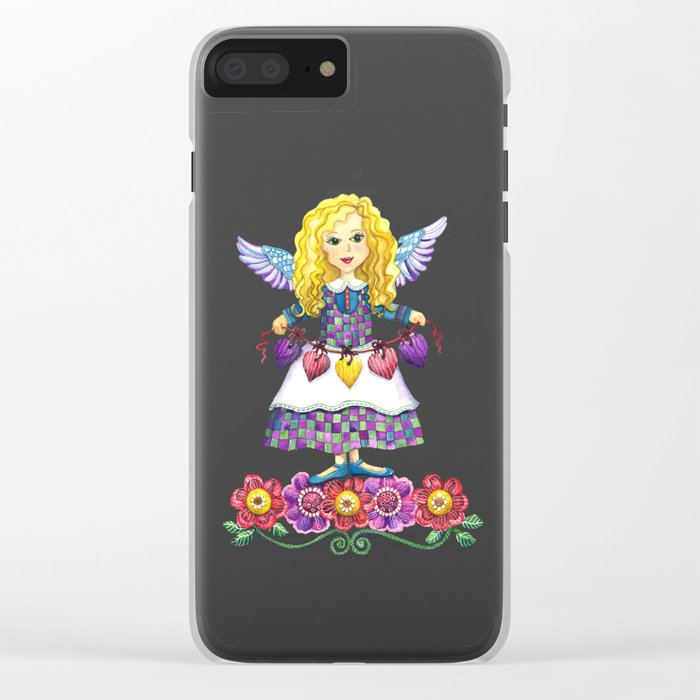 Angel Love Clear iPhone Case