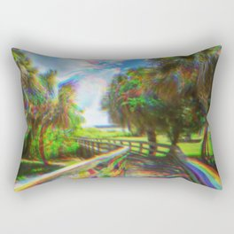 Trippy Walkway Rectangular Pillow