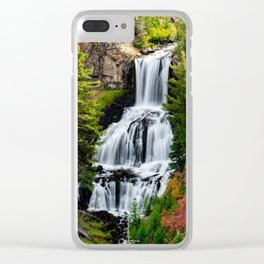 Undine Falls In Yellowstone National Park Clear iPhone Case