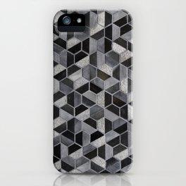 Dark Honeycomb iPhone Case