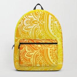 Solar Plexus Chakra Mandala Backpack