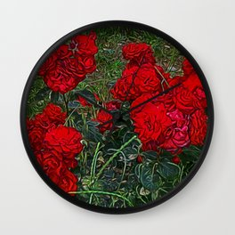 Red Roses by Lika Ramai Wall Clock