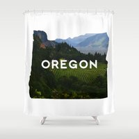 oregon Shower Curtains featuring Oregon by Hillary Murphy