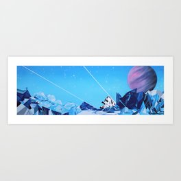 Crash Landing Art Print