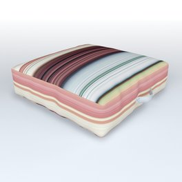 Sandwich cookie stripes Outdoor Floor Cushion