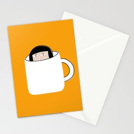 Hiding in a Tea Cup Stationery Cards