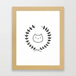 Cat Appreciation Framed Art Print