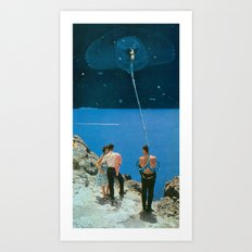 Space Tether Art Print