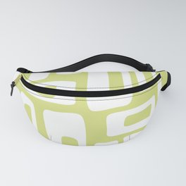 Retro Mid Century Modern Abstract Pattern 732 Chartreuse Fanny Pack