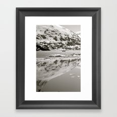 Mountain Reflection Framed Art Print