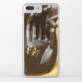 Buddha Hand Illustration Clear iPhone Case