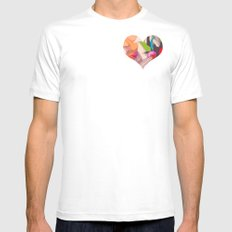 Deco Heart Mens Fitted Tee White MEDIUM