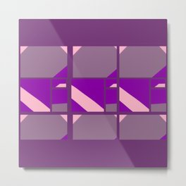 Please Pink, Maybe Mauve, Patterned Purple Metal Print