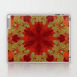 Red and Teal Snowflake Design Laptop & iPad Skin