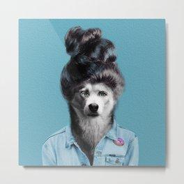 HUMAN DOG Metal Print