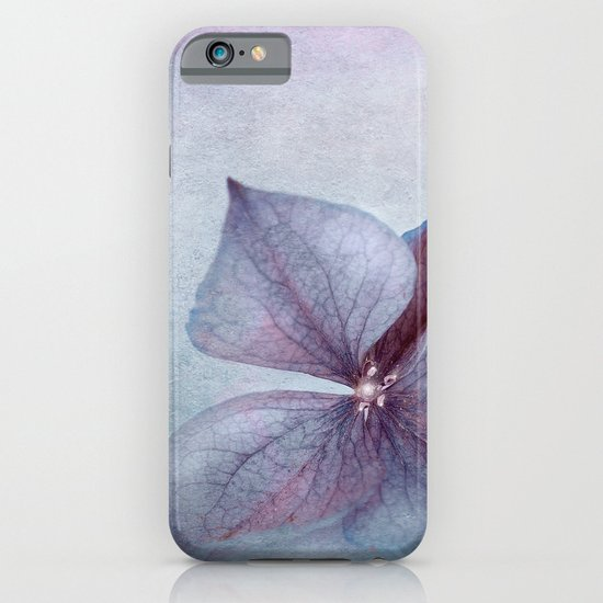 BLUE HYDRANGEA PETAL iPhone & iPod Case