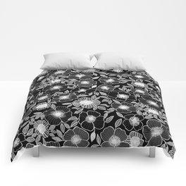 Poppy Black Comforters