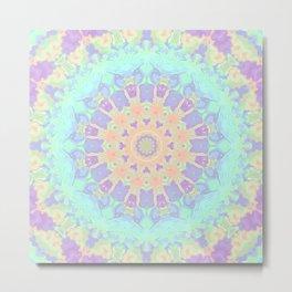 Rainbow Kaleidoscope Metal Print
