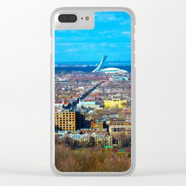 Montreal Skyline Clear iPhone Case