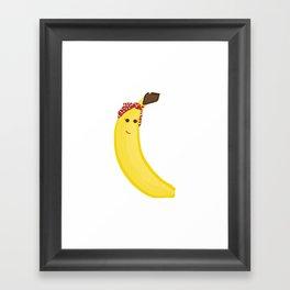 Banana in Bandana Framed Art Print