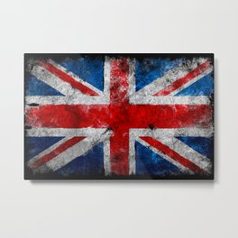 UK Grunge flag Metal Print