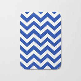UA blue - blue color -  Zigzag Chevron Pattern Bath Mat
