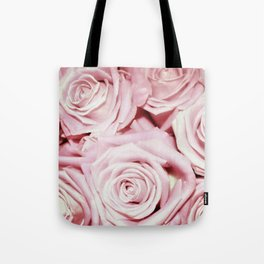 Beautiful bed of pink roses- Floral Rose Flowers Tote Bag