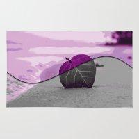 leaf Area & Throw Rugs featuring Leaf by Aloke Design