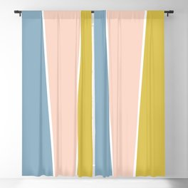 Retro Spring Color Block Blackout Curtain