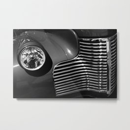 Classic Car in Black and White Metal Print
