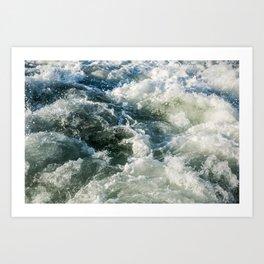 Choppy Water Art Print