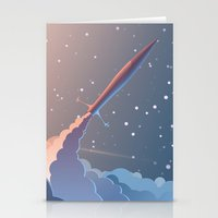 rocket Stationery Cards featuring Rocket by TheNewVision