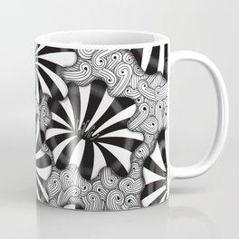 Striped Zentangle Flowers Coffee Mug