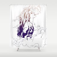 lana Shower Curtains featuring Lana by Pesim0