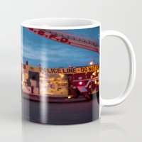 police Mugs featuring Police Line by SShaw Photographic