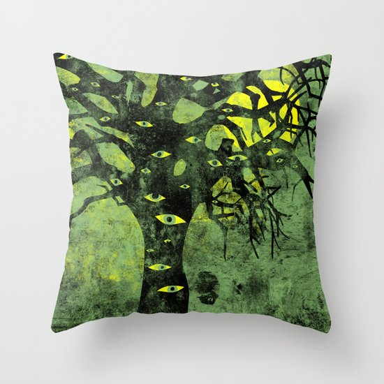 the Vision Tree (green) Throw Pillow