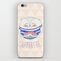 summertime cat iPhone & iPod Skin