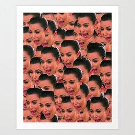 Kim Face Art Print
