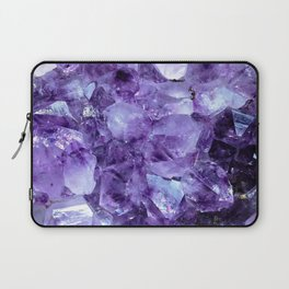 Amethyst Crystals Laptop Sleeve